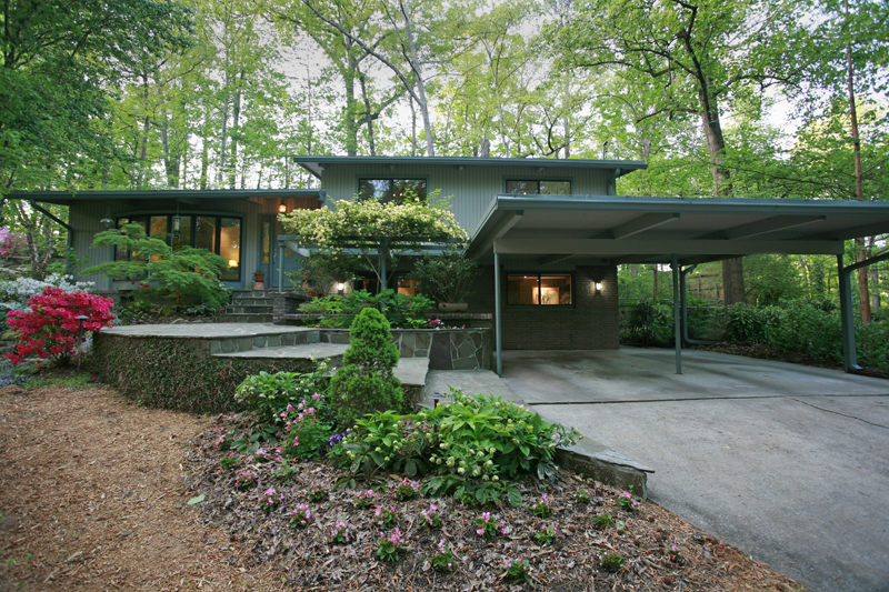 Mid Century Modern Homes Landscaping mid-century modern atlanta homes