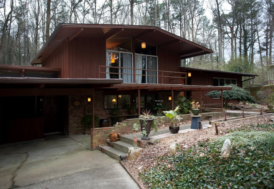 Richly Textured Mid Century Modern Northcrest Home Just