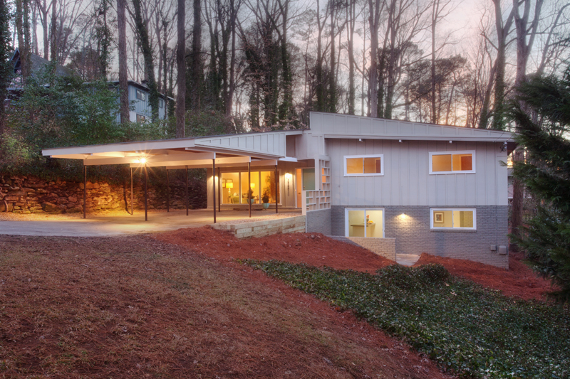 Atlanta Mid Century Modern Renovation For Sale Before After