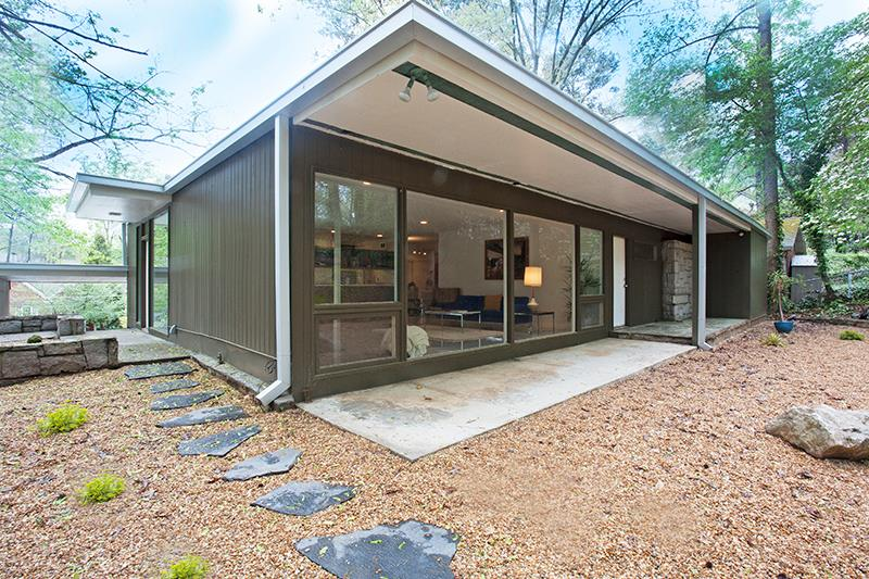 Atlanta mid century modern home for sale Modern houses in atlanta