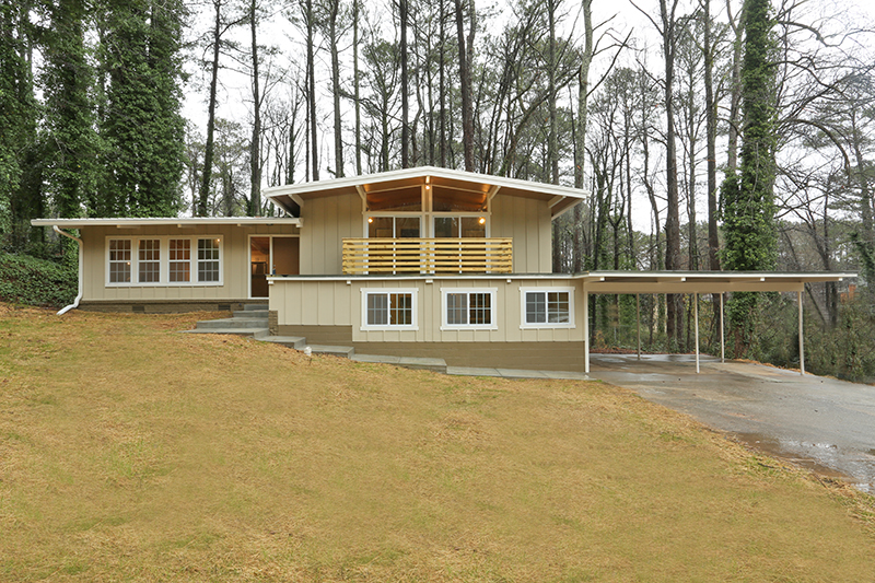 Atlanta Mid-Century Modern Homes for sale, Northcrest Modern Homes, Modern Homes Atlanta GA