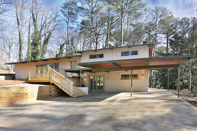 Mid-Century Modern Renovation Atlanta GA Northcrest Modern Home
