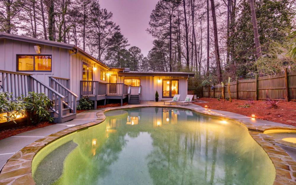 Lights, camera, DRAMA – Atlanta Midcentury Modern Home for sale!!!